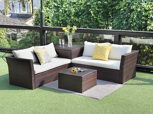 Cascade 4-PC all Weather Wicker Sofa Seating Gruop