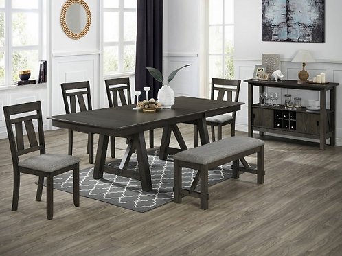 Maribelle Grey Brown Dining Collection
