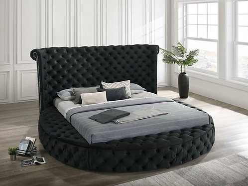 Penthouse Black Platform Storage Bed