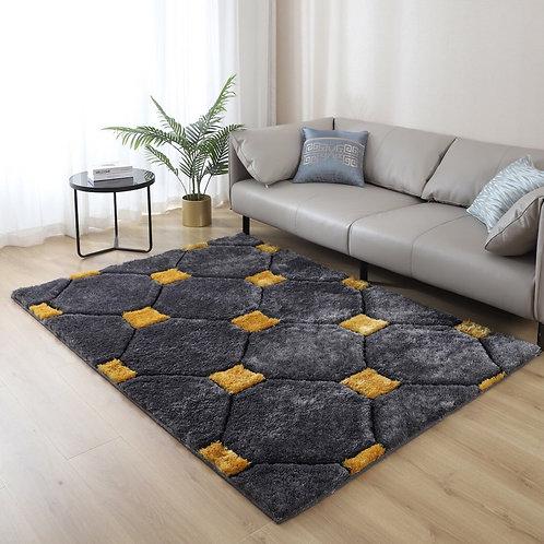 Casa Shag 3D Gray/Yellow Area Rug