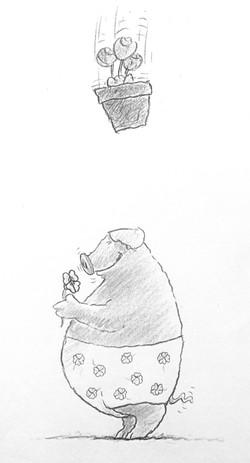 Pig Blumentopf
