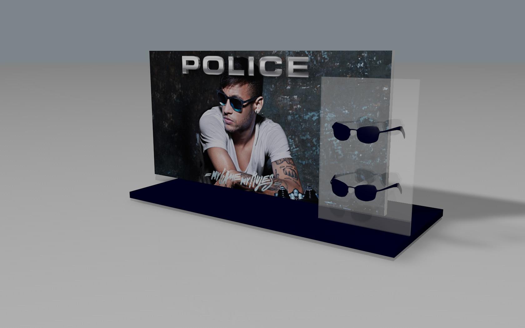 Expositor de balcão Police