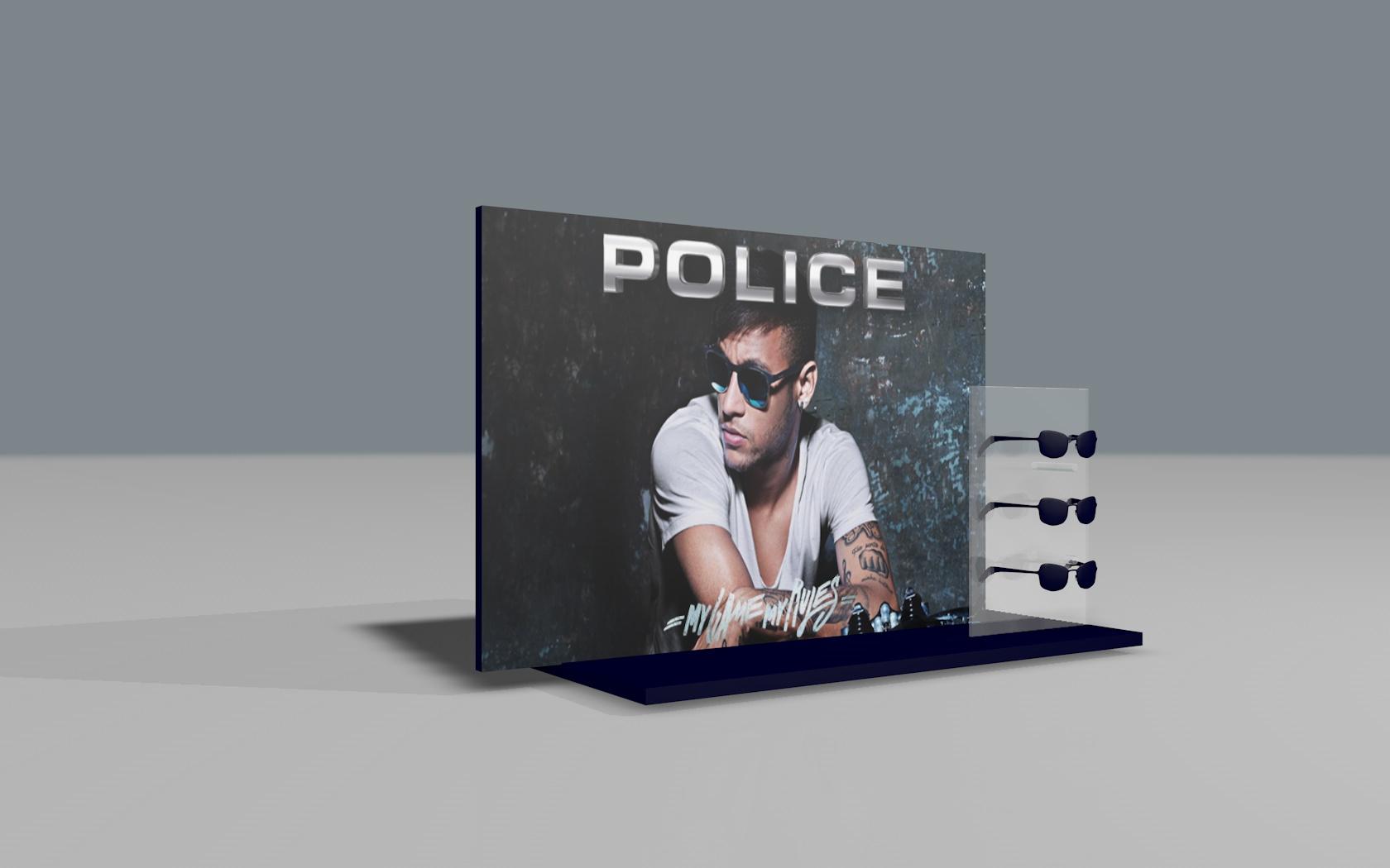 Expositor horizontal Police
