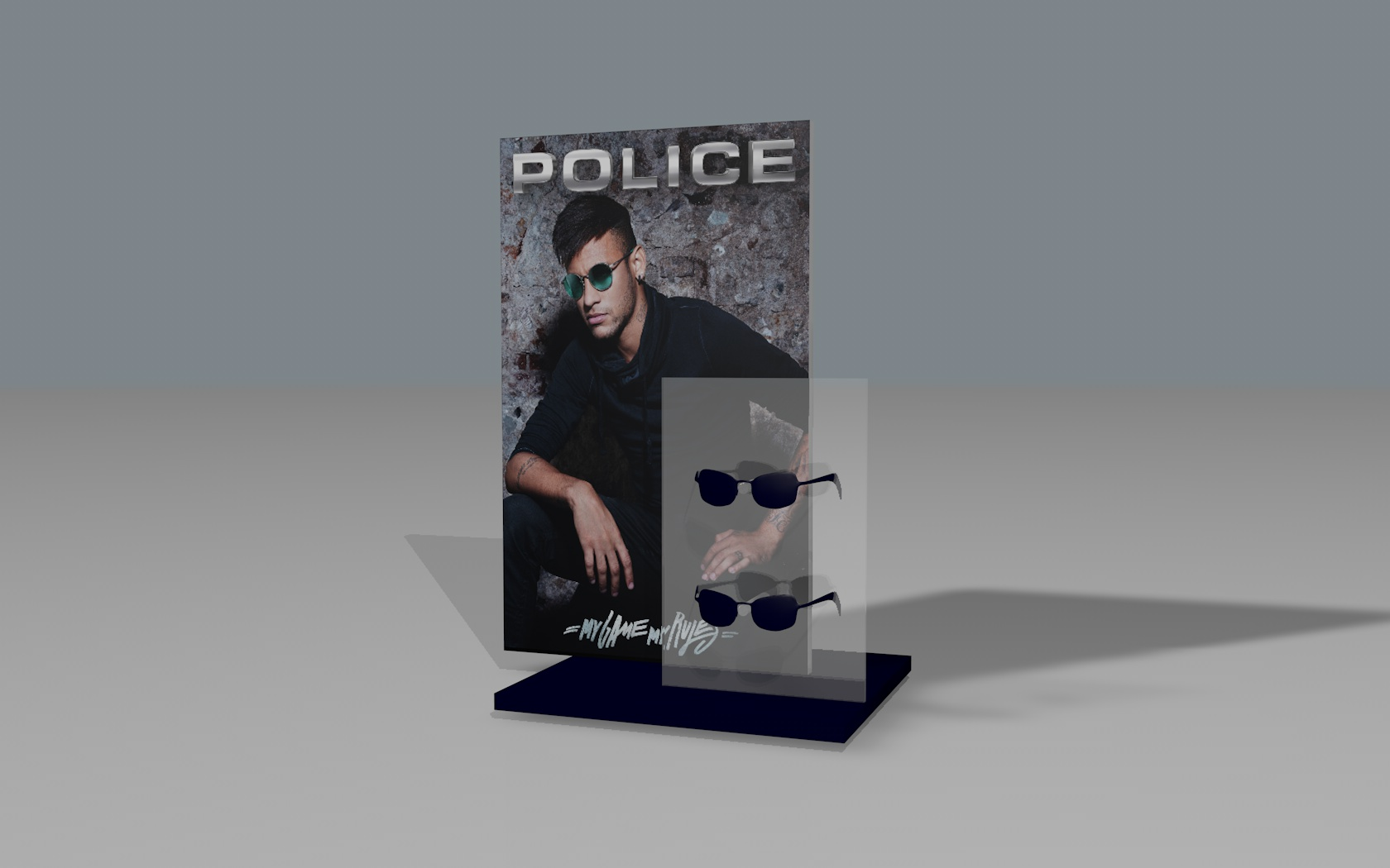 Expositor vertical Police