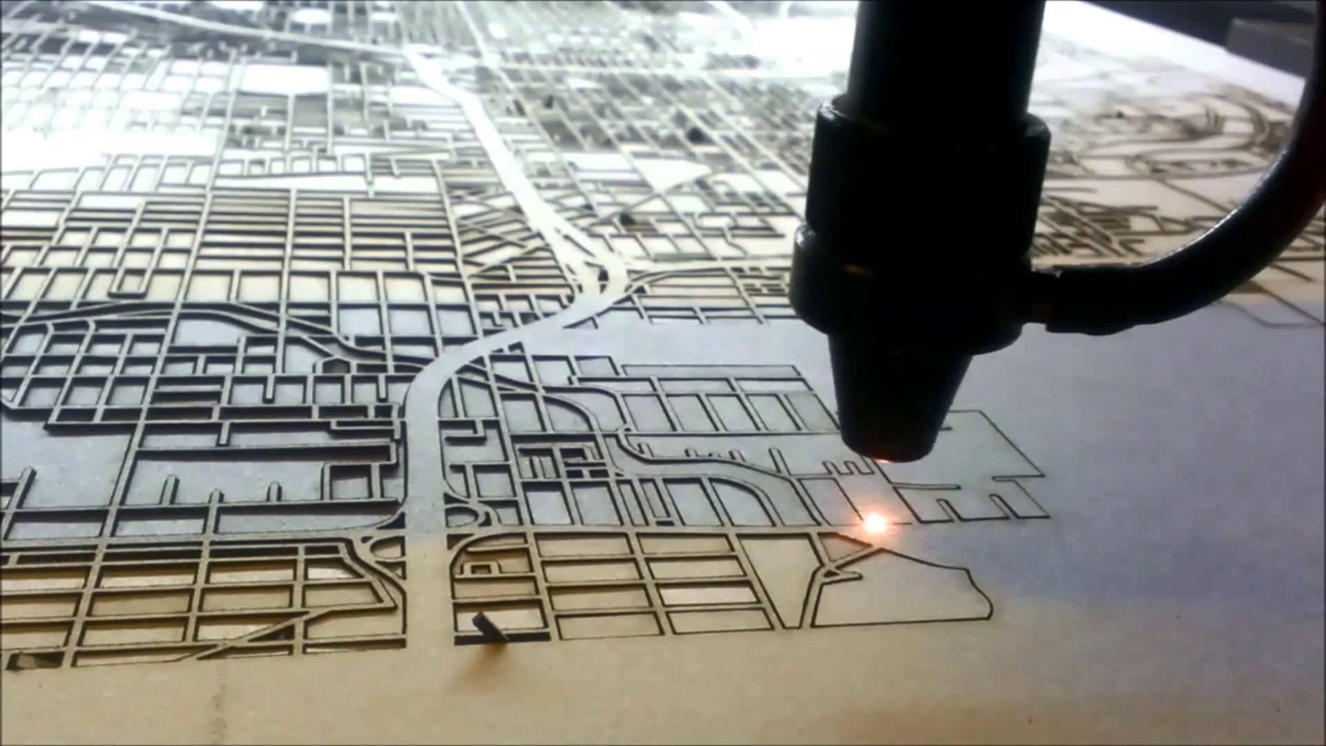 Pormenor laser em funcionamento