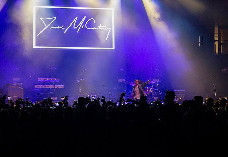Jesse McCartney performing at Bradley University