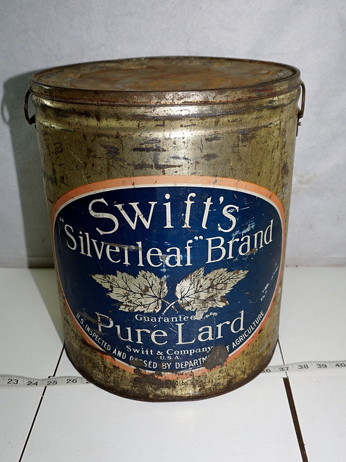 Swift's Silverleaf  Brand 50lbs Tin - Pure Lard
