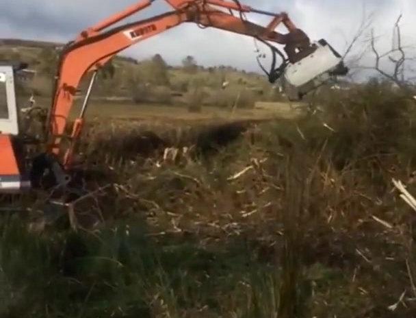 Clontrac Excavator Flail Head