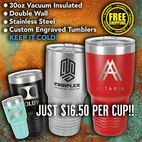 30oz Vacuum Insulated Stainless Tumblers Case Of 24
