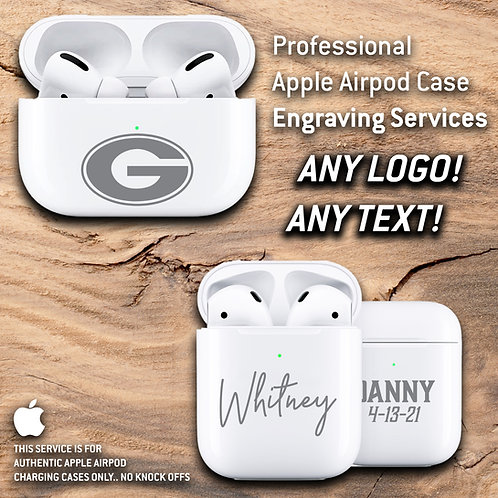 Apple Airpod Charging Case Engraving Services