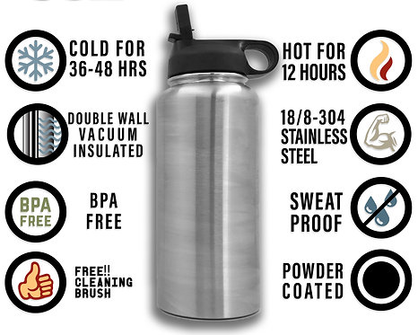 Custom 32oz Themed Water Bottle