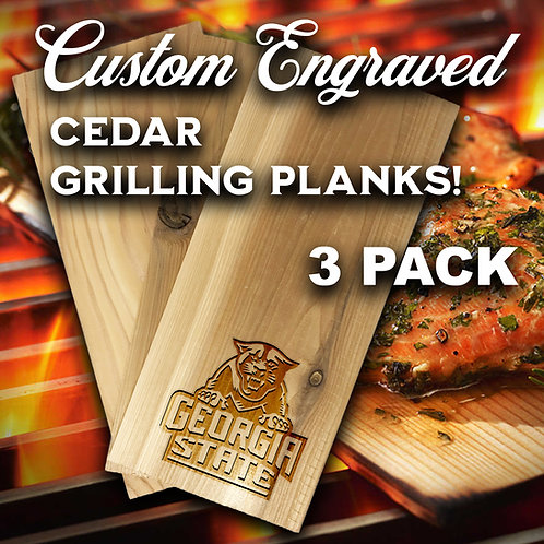 Custom Engraved Cedar Grilling Planks (3 pack)