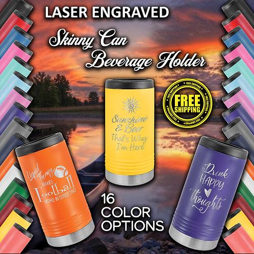 Slim Can Laser Engraved Insulated Beverage Holder Case of 24