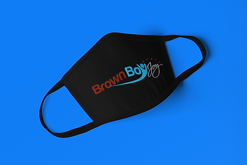 Brown Boy Joy Logo Face Mask