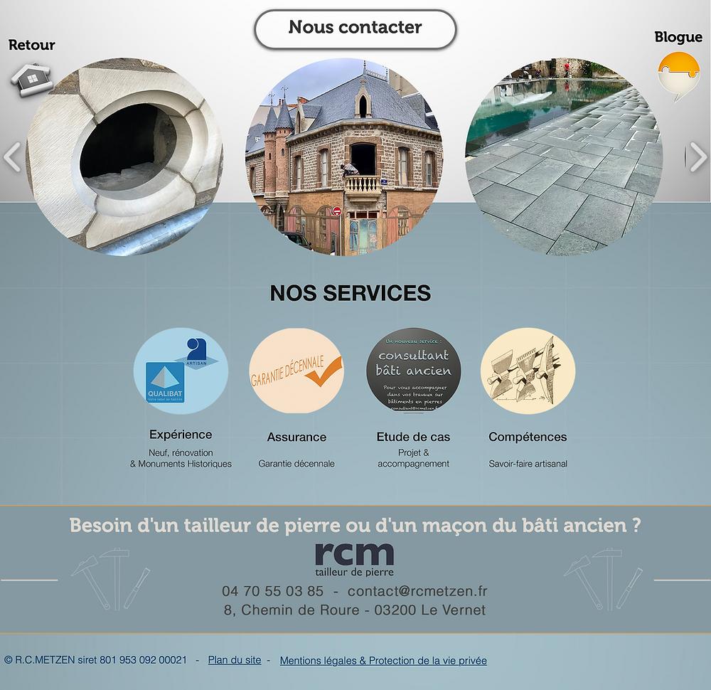 site internet rcm tailleur de pierre Vichy