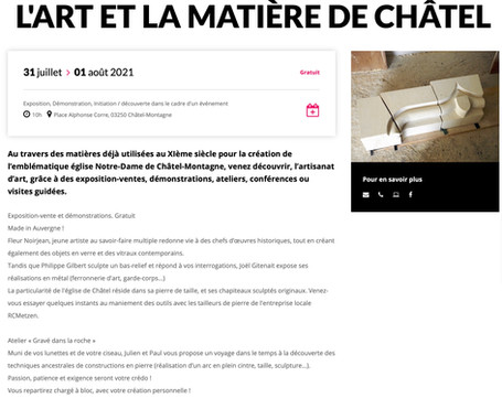 "WEEK-END ""ART ET MATIÈRE"" 31/07 et 01/08"