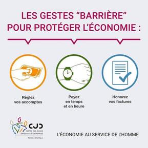 Les gestes barrières pour protéger l'économie