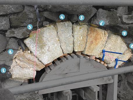 Réparation arc en pierre