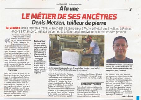 Denis Metzen, tailleur de pierre