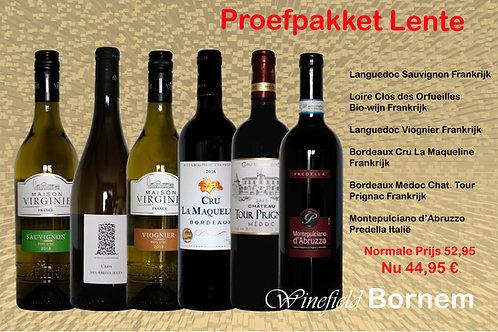 Proefpakket Lente 6 flessen wijn