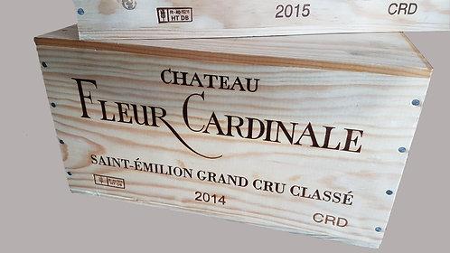 Coffret en bois 6 bouteilles Chateau Fleur Cardinal St Emilion Grand Cru Classé 2016
