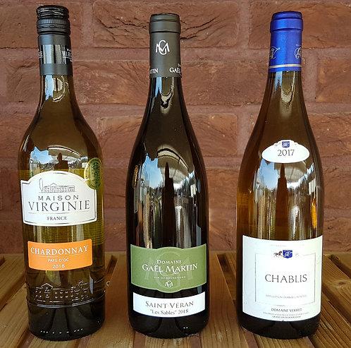 Proefpakket  Chardonnay 3 flessen