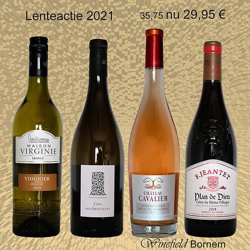 Lentepakket 4 flessen wijn
