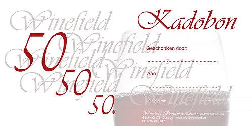 Kadobon 50 EUR