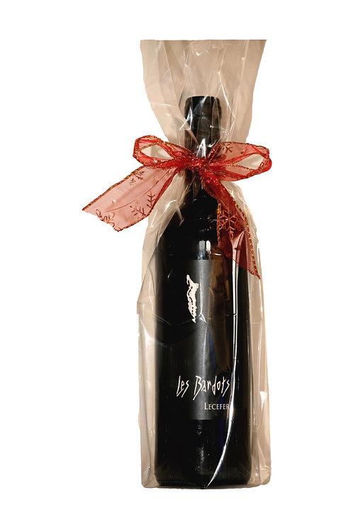 1 fles wijn in geschenkverpakking