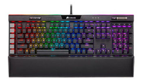 CORSAIR - Gaming K95 RGB PLATINUM XT Wired Mechanical CHERRY MX Speed RGB Silver