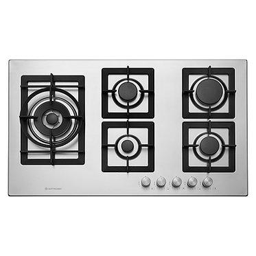 Cooktop Elettromec Quadratto 5 queim. à gás 90cm inox bivolt CKG-5Q-90-XQ-3ZEA