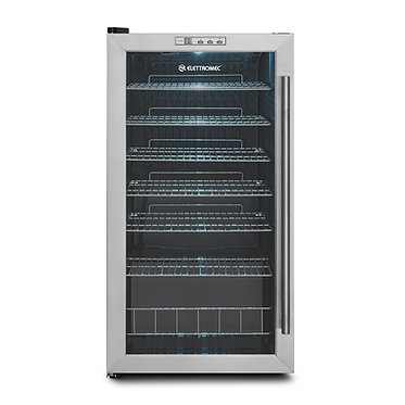 Frigobar Elettromec 88 Litros inox 127/220v FB-FS-88-XV-1CAA | FB-FS-88-XV-2CAA