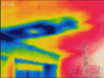 Flir thermal image for energy audit