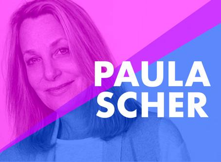 """I drew the logo after first meeting on a napkin""~~ Paula Scher"
