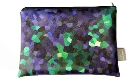 MIDNIGHT   Faux Leather Pouch