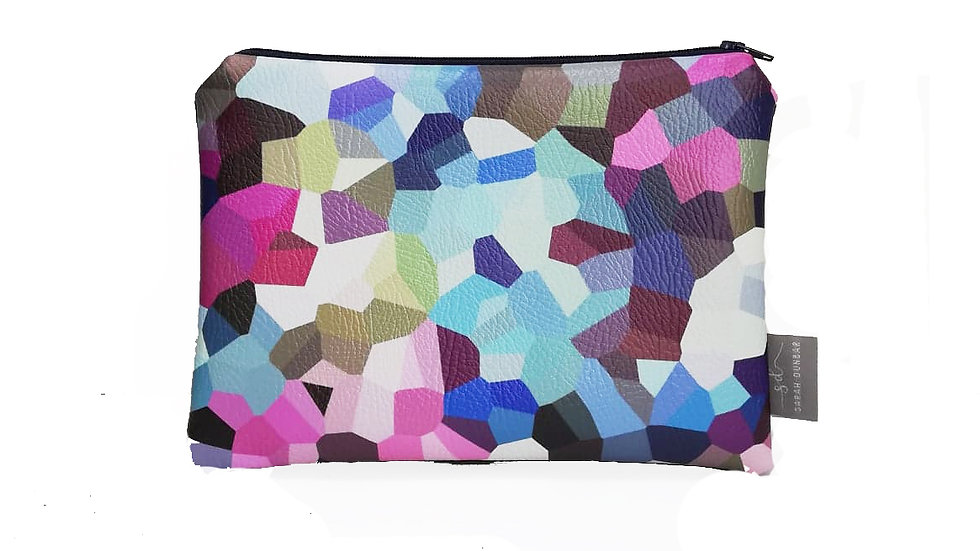 BERRY |  Faux Leather pouch