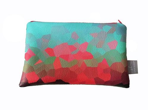 AQUA SKY | Faux Leather pouch