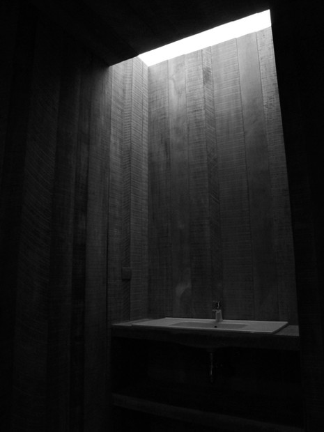 Cenital light in bathrooms