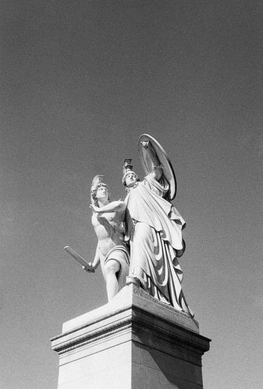 Athena Protects the Young Hero / Agfa Silette / BW 400