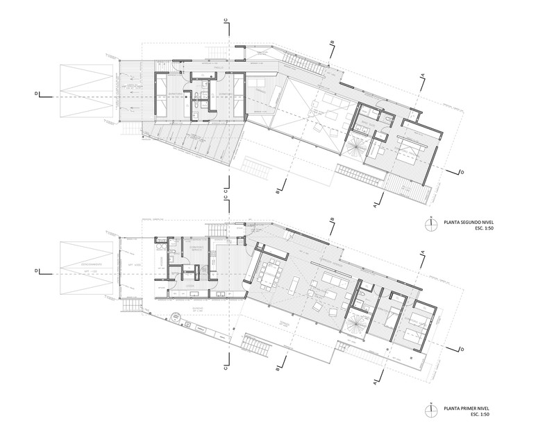 First and second floor plans