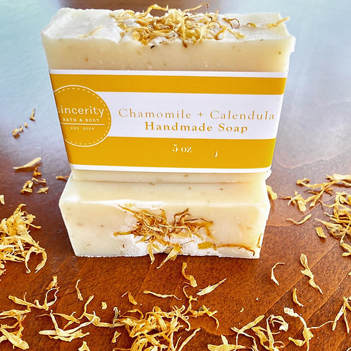 Chamomile & Calendula Handmade Soap