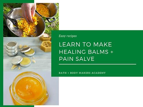 Healing Balms + Pain Salve Course
