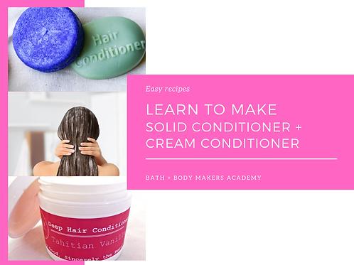 Cream + Solid Conditioner Course