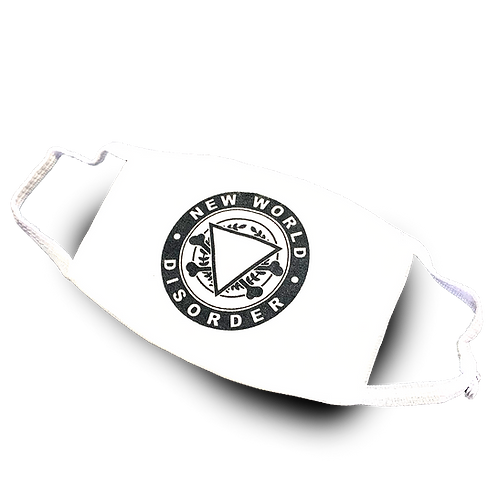 White Round Patch Facemask