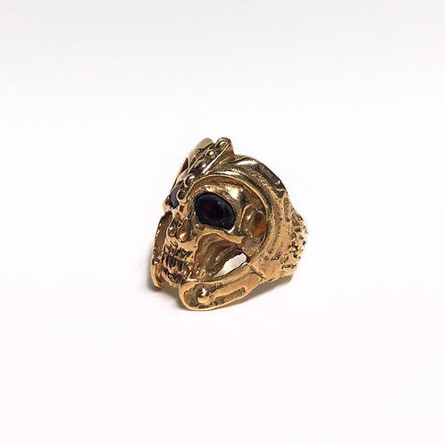 Skull Warrior Ring (Gold)