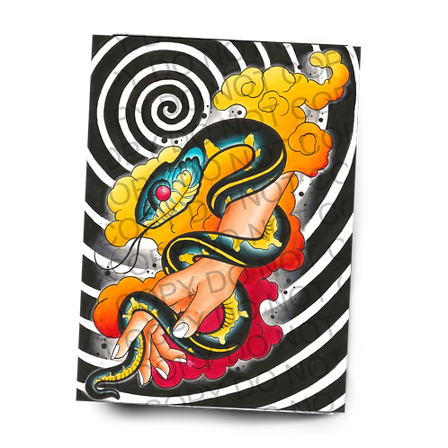 Neo Snake Hand Watercolor Painting (PRINT)