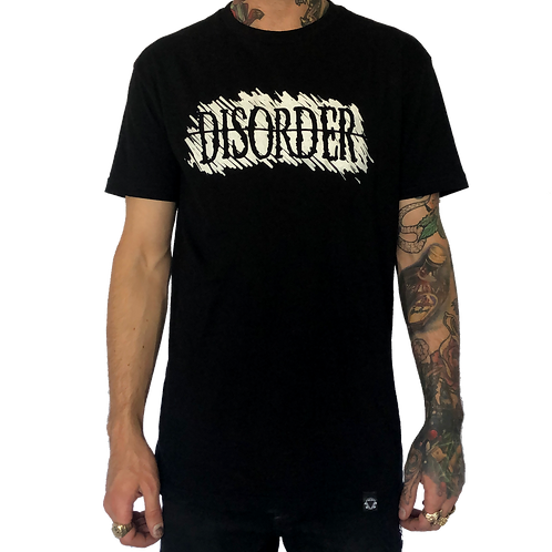Men's DISORDER Black T-Shirt