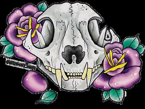 Bobcat Art Sticker