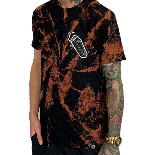 Men's Acid-Wash Coffin T-Shirt
