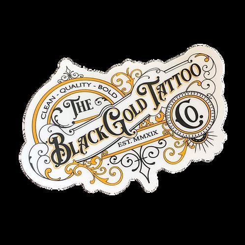 BlackGold Tattoo Shop Sticker